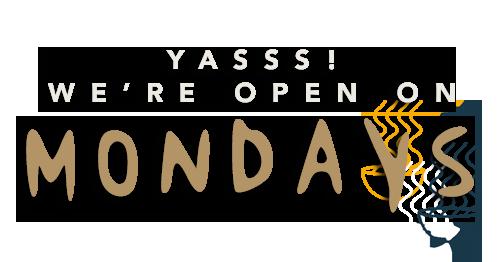 Open op maandag!